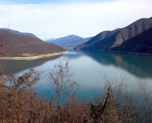 Жинвальское водохранилище, Грузия